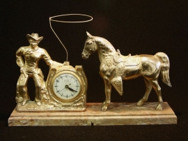 COWBOY LARIT CLOCK