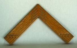 New Mexican carved wood tone frame, No. 48-2.5 inches wide
