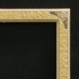 Lon Megargee Signature Gold Frame Circle M 1.5 Wide