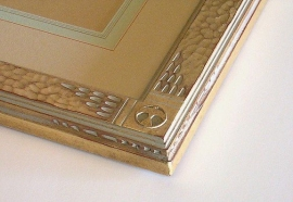 Maynard Dixon Drawing Frame Series 1.5 inches wide. Detail of custom order with additional carving details.