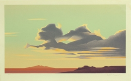 Ed Mell 14.5 x 25 in, Stone Lithograph 95/100 Paper size 17 x 27 inches Published by Southwest Graphics, $900.00
