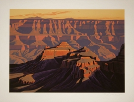 Shadows on the South Rim, Grand Canyon, Stone Lithograph 26 x 36 inches, $2,000.00