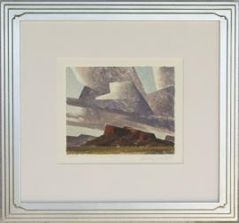 Ed Mell, Arizona Mesa 8 x 9.75 inches, Monoprint, $2,800.00.