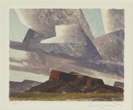 Ed Mell Arizona Mesa 8 x 9.75 inches, Monoprint $2,800.00.