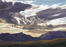 Ed Mell Galiuro Gap 1998 16 x 22 Oil on Linen, $9,750.00