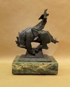 Jack Knife, Bronze, Ed Mell, 13.5H x 10.5W x 7.5D, Edition of 35, Call for pricing.