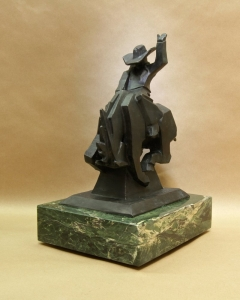 Jack Knife2, Bronze, Ed Mell, 13.5H x 10.5W x 7.5D, Edition of 35, Call for pricing.