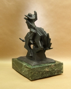 Jack Knife3, Bronze, Ed Mell, 13.5H x 10.5W x 7.5D, Edition of 35, Call for pricing.