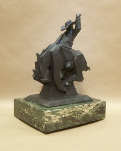 Jack Knife4, Bronze, Ed Mell, 13.5H x 10.5W x 7.5D, Edition of 35, Call for pricing.