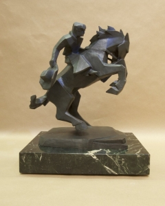 Rearing Back, Bronze, Ed Mell, 16H x 13W x 9D, Edition of 30, $9,500.00
