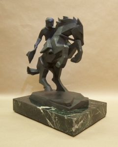 Rearing Back2, Bronze, Ed Mell, 16H x 13W x 9D, Edition of 30, $9,500.00
