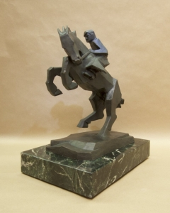 Rearing Back3,Bronze, Ed Mell, 16H x 13W x 9D, Edition of 30, $9,500.00