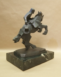 Rearing Back6, Bronze, Ed Mell, 16H x 13W x 9D, Edition of 30, $9,500.00
