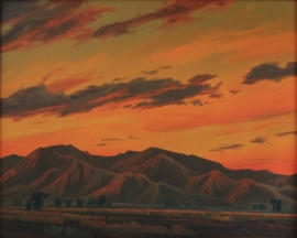 White Tanks Sundown, 24 x 30 inches Frame 29 x 35 inches Oil on canvas, $18,000.00.