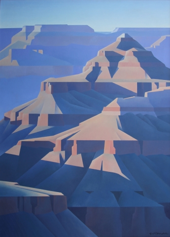 Grand Canyon Oil on canvas, 66 x 48 inches, SOLD