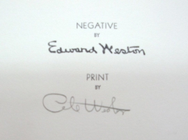 Reverso of Weston Estate Stamp with original Cole Weston signature