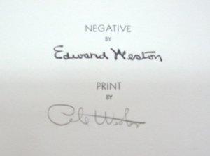 Reverso of Weston Estate Stamp with original Cole Weston signature