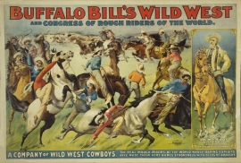 Buffalo Bill's Wild West and Congress of Rough Riders and Cattle. Call for pricing and size.