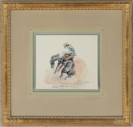 George Phippen 1947 Watercolor 5 x 6