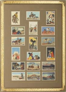 18 Postcards Megargee Signature frame