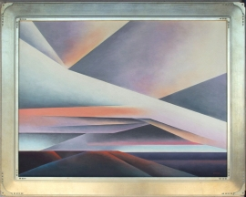 Intersecting Clouds 1980 Ed Mell 30 x 40