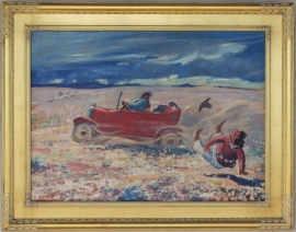New Car, ca. 1940 Lon Megargee