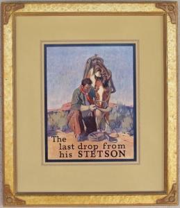 Stetson Hat Advertising Lon Megargee 1924