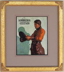 Stetson Hat Advertising Lon Megargee 1925