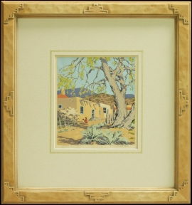 New Mexican Frame with hand applied French lines