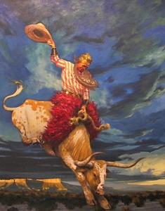 Sedona Kid on Valentine Greg Singley 30 x 24 Oil on Canvas Sold