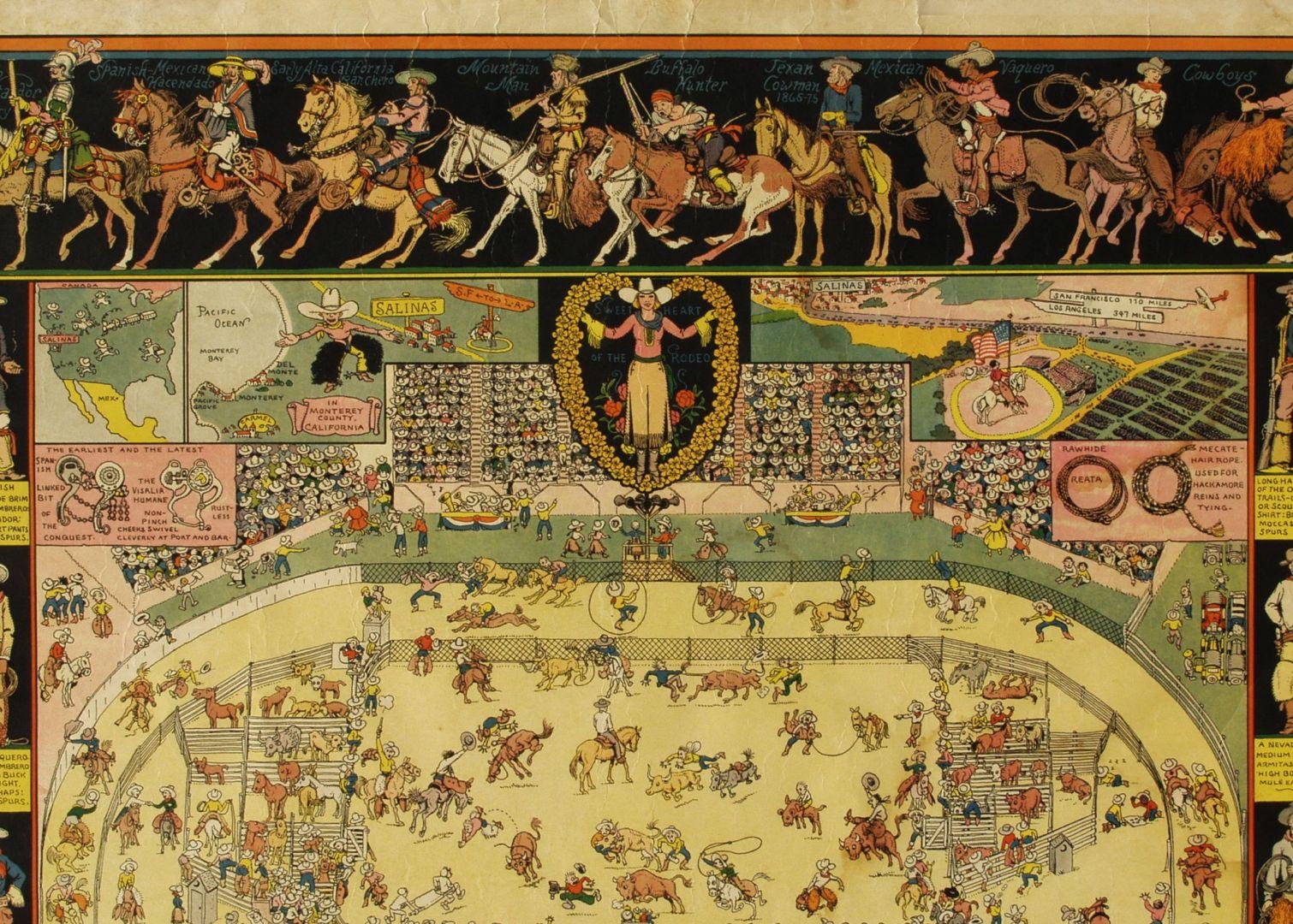 Jo Mora Original Version Evolution Of The Cowboy Collier Gallery - Jo mora los angeles map