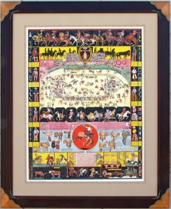 Evolution of the Cowboy 1933 Pair For sale, includes Indians of North America, framed, $9,000.00
