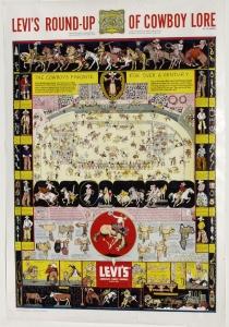 Levi Strauss First Printing c. 1950 $2,500.00 Framed
