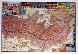 Grand Canyon Map 1931 Jo Mora Mint condition from the estate. Sold as framed only, price on request.