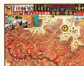Grand Canyon, Jo Mora Detail 1
