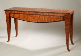 Kewazenga Console Table 32H x 17D x 65.5L inches Veneer over solid wood SOLD