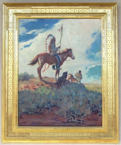 Indian on Horseback1924 25 x 20 SOLD