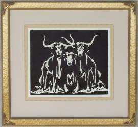 Longhorns ca. 1920s Lon Megargee