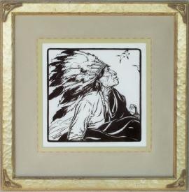 War Bonnet ca. 1920s Lon Megargee