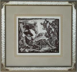 Siesta Lon Megargee Block-print 10.5 x 12.5