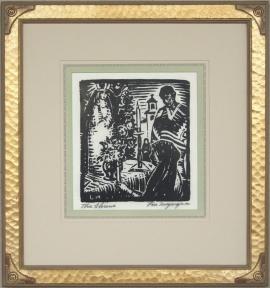 The Shrine Lon Megargee Block-print 9.25 X 8.25