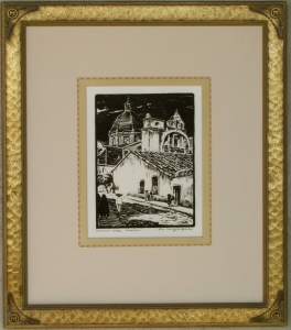 Cuernavaca Lon Megargee Block-print 9 x 6.75