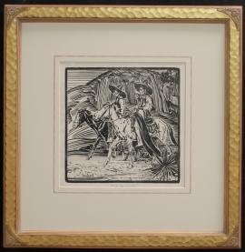 Three Horsemen, Block Print