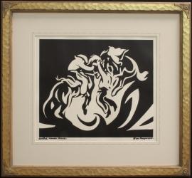 Wild Horse Race, Block Print
