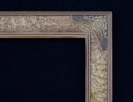 Lon Megargee Signature Antique Gold Frame Circle M 1.5 Wide