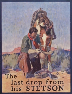 Stetson Hat Advertising 1924