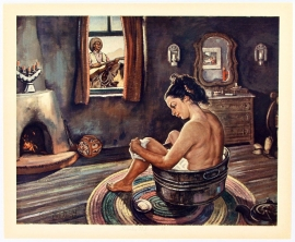 Saturday Night on the Ranch, original lithographic Print ca 1950 $235.00, shipping included.