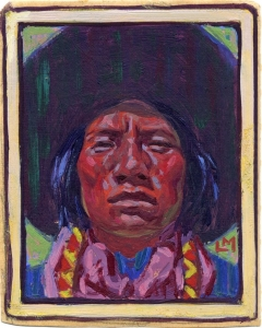 Lon Megargees' smallest painting 3 x 2.4 inches, c. 1923, Archival pigment print,Edition 100, $100.00
