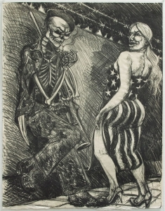 Coscolina Con Puerto (Flirt With Death), Stone Lithograph 1986 26.75 x 21 inches $6,000.00