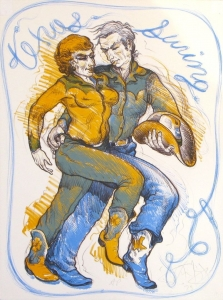 Texas Swing, Stone Lithograph 24 x 18 inches, $2,500.00